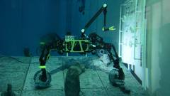 SherpaUW: Tests with hybrid underwater rover in the maritime exploration hall